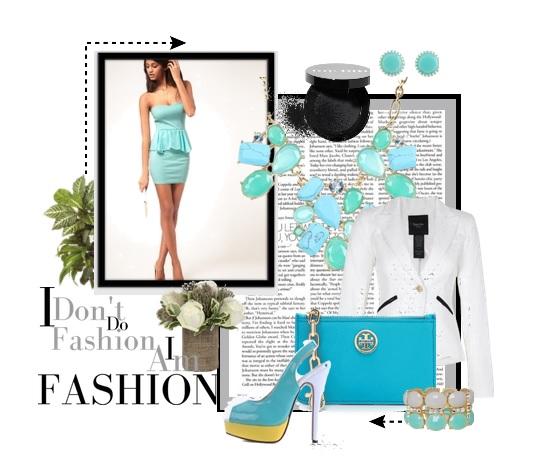 turquoise-peplum-mini-dress