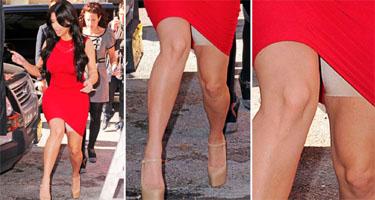 Kim Kardashian Spanx in red dress
