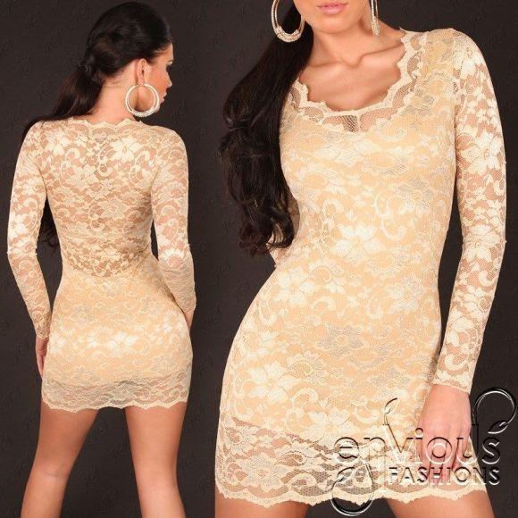 long-sleeve-gold-lace-dress