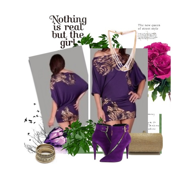 purple-off-the-shoulder-dress