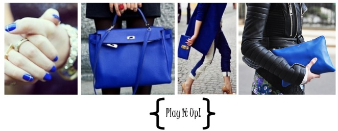cobalt blue accessories street style