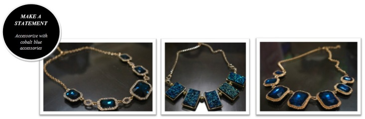cobalt blue necklaces accessories
