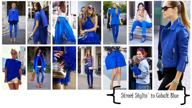 street style fashion bloggers cobalt blue