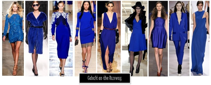 cobalt blue runway trends