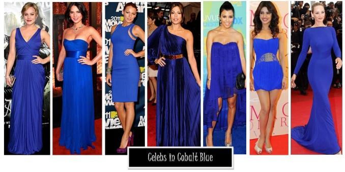 cobalt blue celebrities red carpet