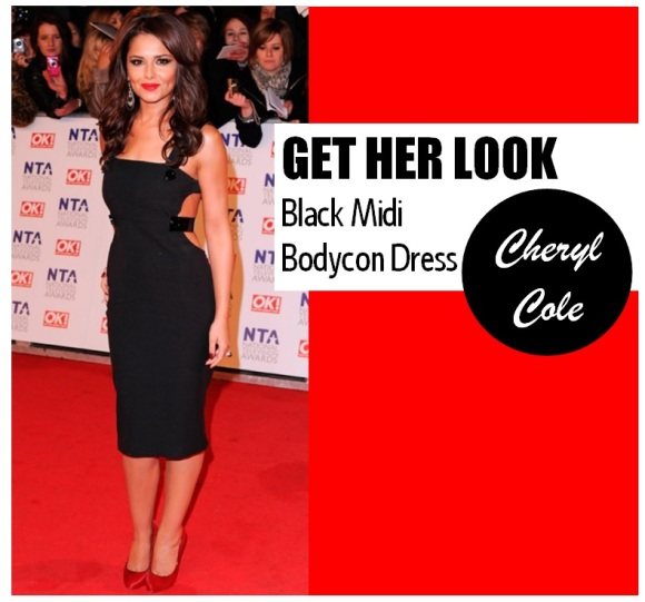 Cheryl Cole Get Her Look Black Bodycon Dress