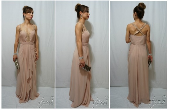 Nude Evening Dresses Under $100 Cheap