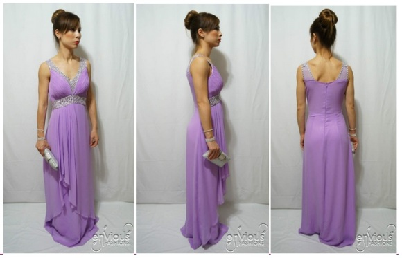 Violet Formal Evening Dress Under $100