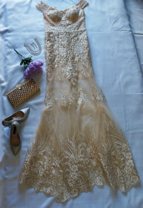 lace ball gown dress