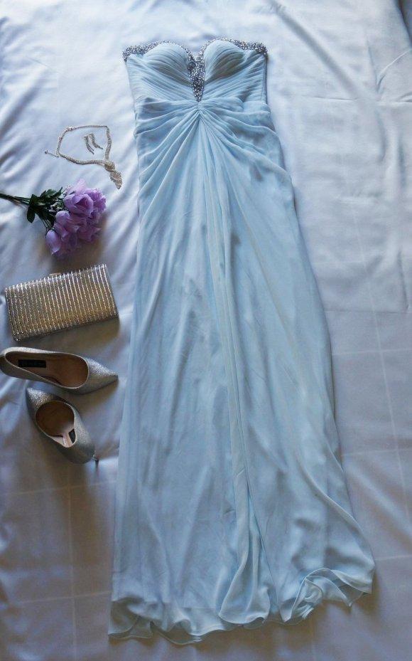 pale blue evening dress