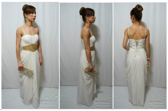 White Evening Gown Under $100